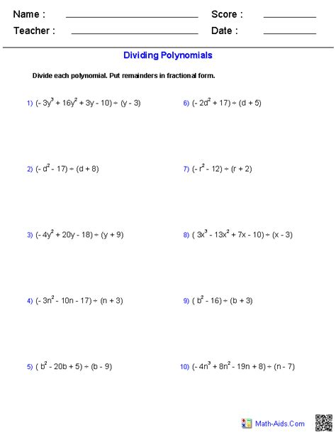 algebra  worksheets rational expressions worksheets