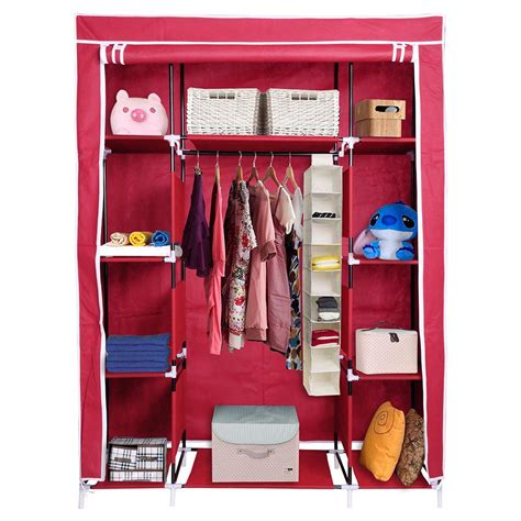 Closet Organizer Racks by 67 Quot Portable Closet Storage Shelves Colthes Fabric