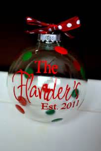 personalized clear glass christmas ornament