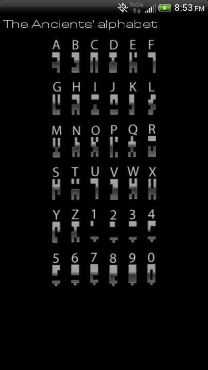 Stargates ancient alphabet. Awesome | Random | Pinterest