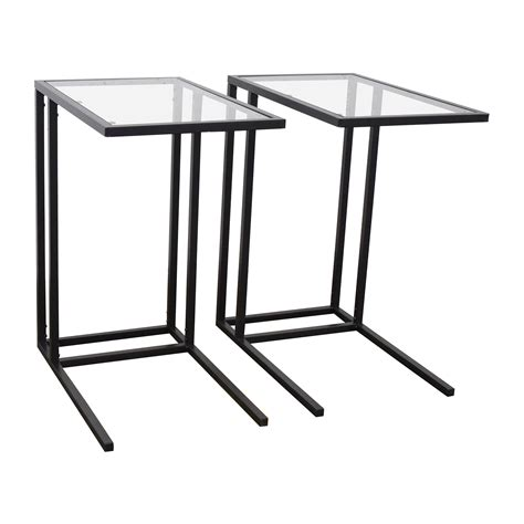glass end tables ikea 67 off ikea ikea glass end tables tables