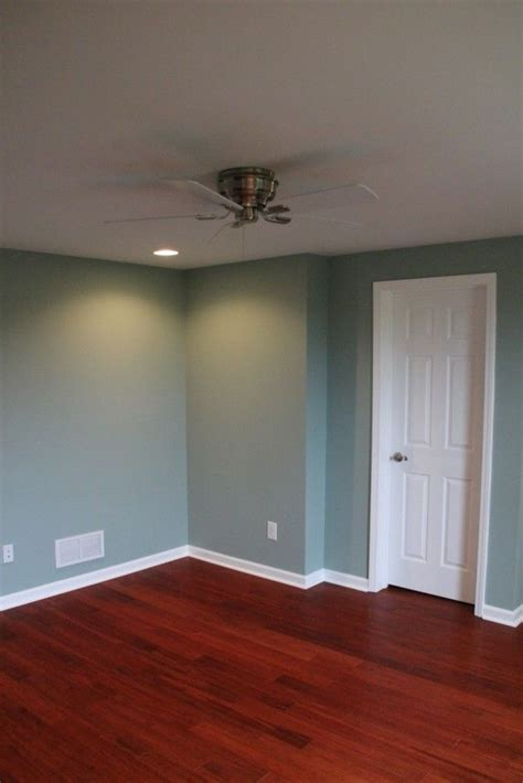 smokey slate walls  behr  complete basement remodel