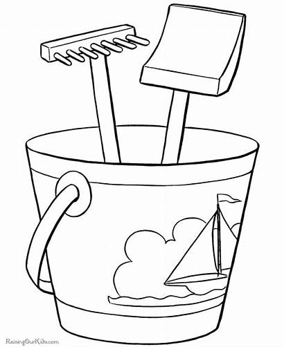 Coloring Printable Pages Beach Fun Places Preschool