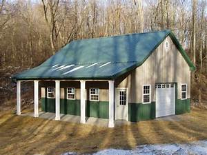 burly oak builders 2439 x 3239 x 1239 with lean to porch With 20x24 pole barn