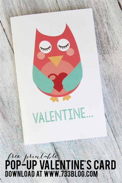 owl pop up card template printable pop up owl s day card inspiration