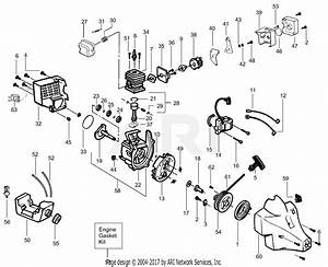 Poulan Pt17 Gas Trimmer Parts Diagram For Engine