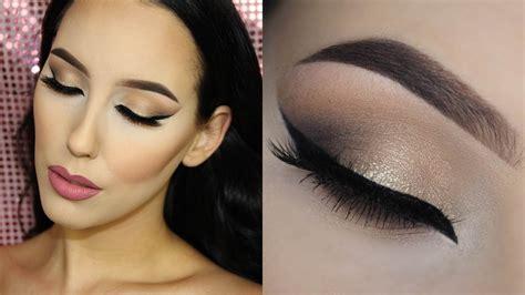 the makeup light neutral cat eye tarte cosmetics light of the