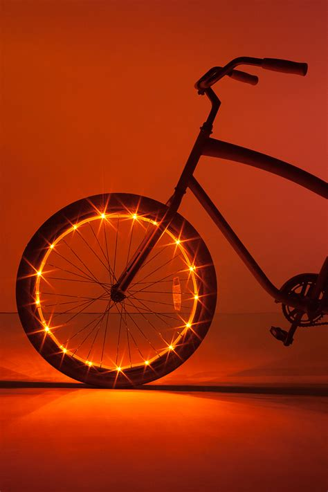 Wheel Lights by Wheel Brightz Orange Bicycle Light Brightz Ltd