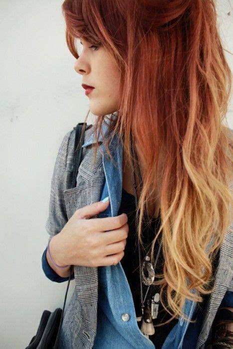 Gingerblonde Dip Dye Inspiring Hair Pinterest