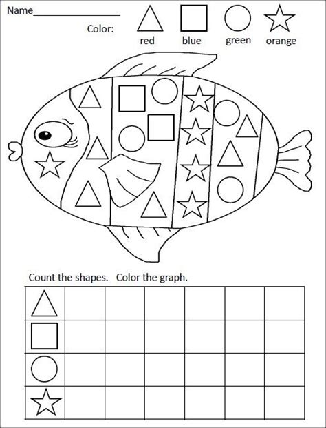shapes graphing activity fish ideas