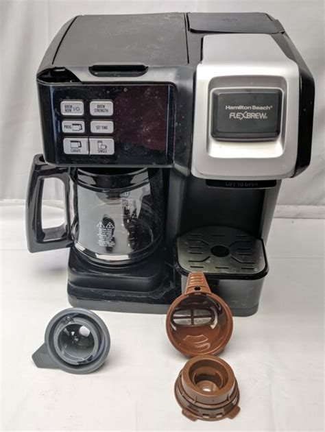 View and download hamilton beach flexbrew user manual online. Hamilton Beach FlexBrew 2-Way Coffee Maker w/ 12-Cup Carafe, 49976, Top Cracked | eBay