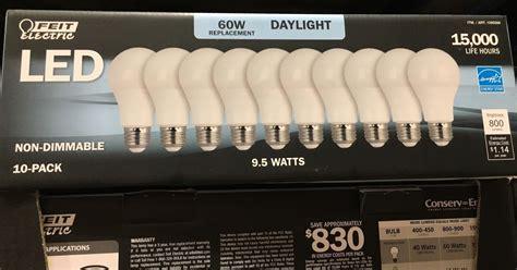 feit electric led 60 watt replacement daylight bulbs 10