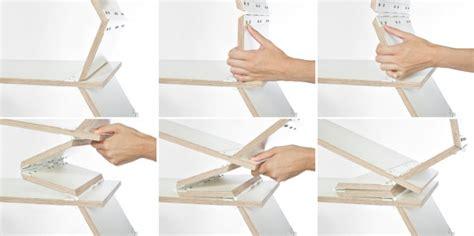Fold Up Bookcase by Stockwerk Foldable Bookcase Design Milk