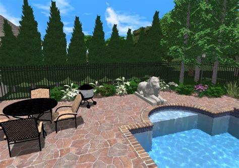 inground pool landscaping  set  pool