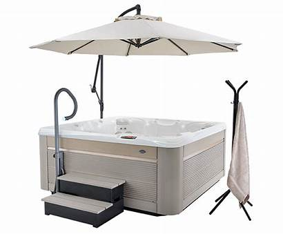 Tub Spa Accessories Side Handrail Steps Umbrella