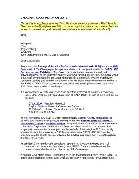 gala invitation letter template edit fill sign