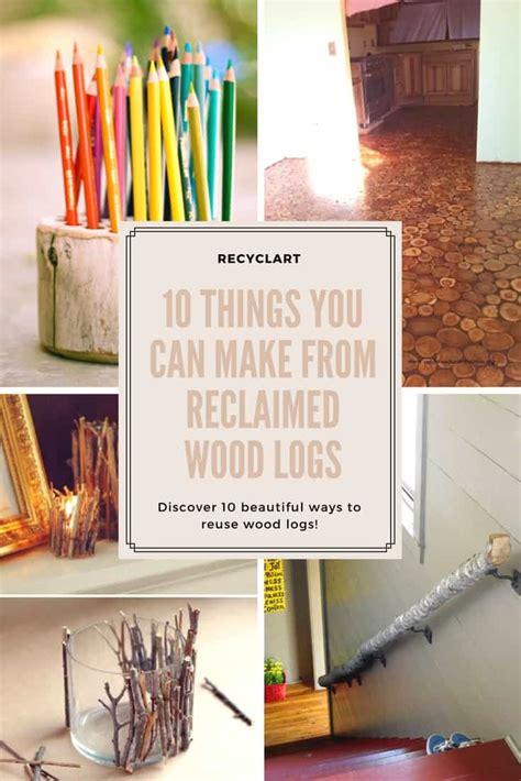 reclaimed wood logs recyclart