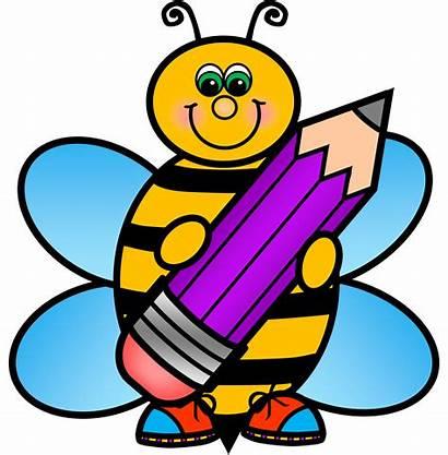 Clipart Kindergarten Clip Children Bee Preschool Drawing