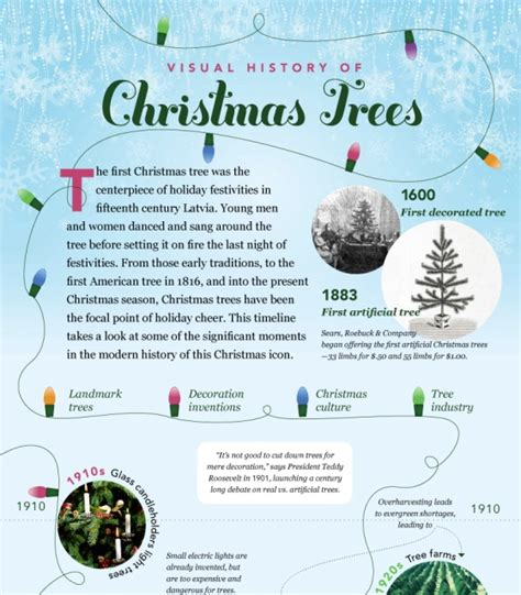 history and traditions of a christmas trees infographic