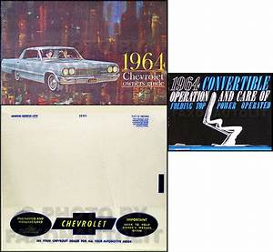 1964 Chevy Impala Convertible Owners Manual Set Owner