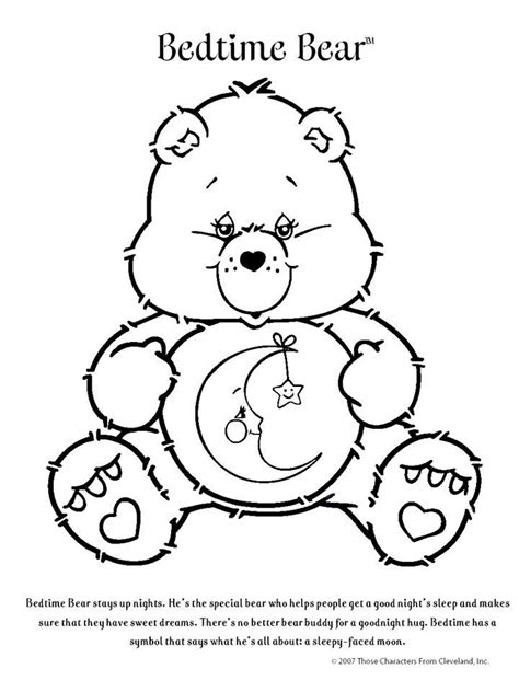 Care Bear | Bear coloring pages, Coloring pages, Disney