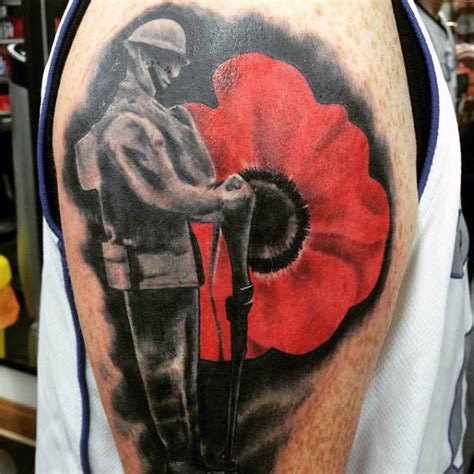 poppy tattoo designs  men tinta bunga zikir