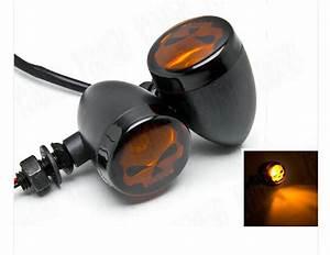 Skull Lens Led Turn Signals Light For Suzuki Boulevard C50 Volusia 800 C90 M109r C109 Marauder