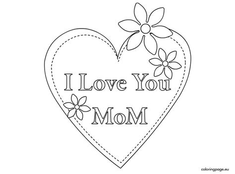 love  mom coloring pages coloring home