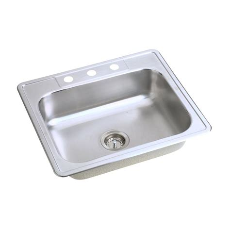 glacier bay all in one kitchen sink glacier bay all in one drop in stainless steel 25 in 3 9224