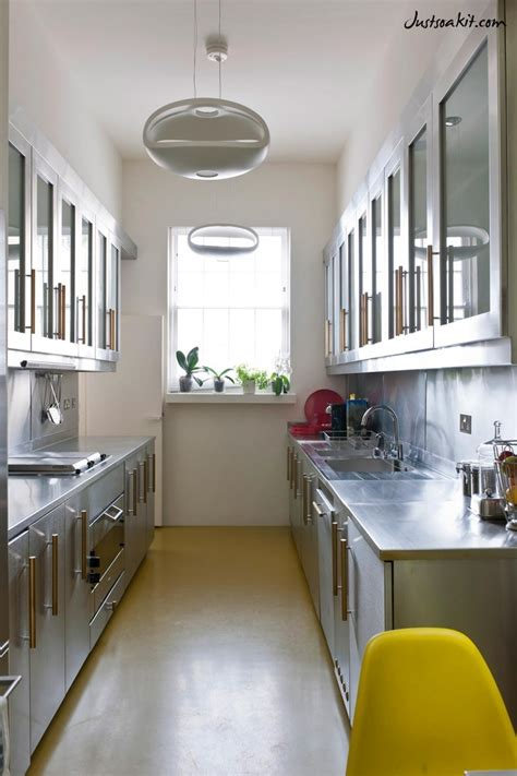 long narrow kitchens simple kitchen design  middle