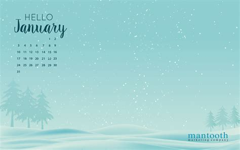January Background January Desktop Wallpaper Free The Mantooth