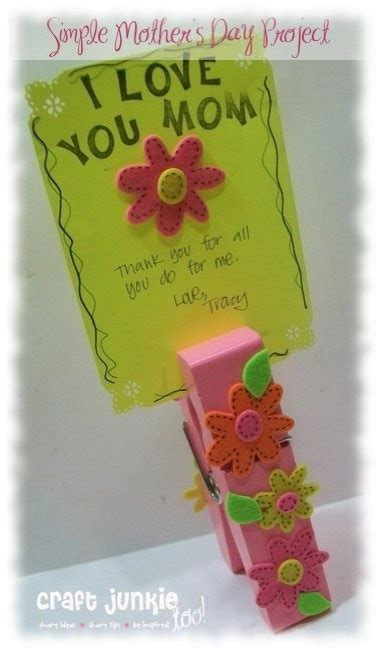 simple mother 39 s day clothespin project country charm