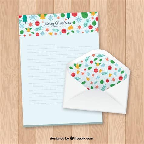 template   christmas letter   envelope vector