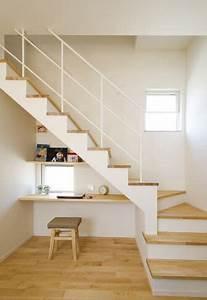 Bureau Sous Escalier : florating desk under the stairs workspace pinterest ~ Farleysfitness.com Idées de Décoration