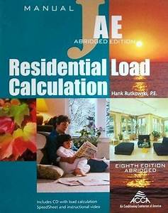 Acca Manual J  Residential Load Calculation  Abridged
