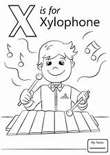 Coloring Letter Pages Xylophone Preschool Ray Alphabet Printable Colouring Letters Sheets Supercoloring Worksheets Template Words Abc Super Crafts Books Puzzle sketch template