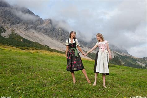 Brunettes Blondes Women Mountains Lesbians Hills Femjoy