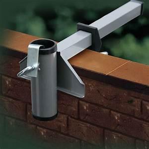 Sichtschutzfächer Balkon Ohne Bohren : sonnenschirmhalter videx f r mauerbr stung aluminium sichtschutz ~ Indierocktalk.com Haus und Dekorationen