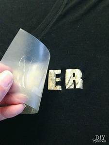 diy metallic iron on decal tutorial diy show off tm diy With metallic vinyl lettering