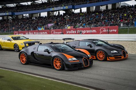 The supercar set another world speed record for the brand. Image: Bugatti Veyron Super Sport and Veyron Grand Sport Vitesse land speed record holders, size ...
