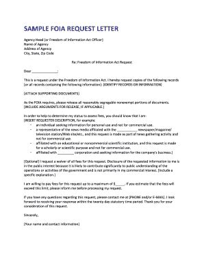 Foia Request Template by Sle Freedom Of Information Act Appeal Letter Templates