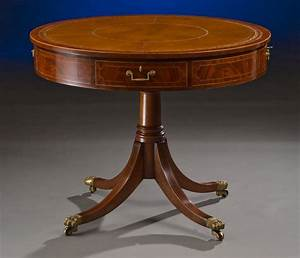 Sheraton, Style, Custom, Drum, Table