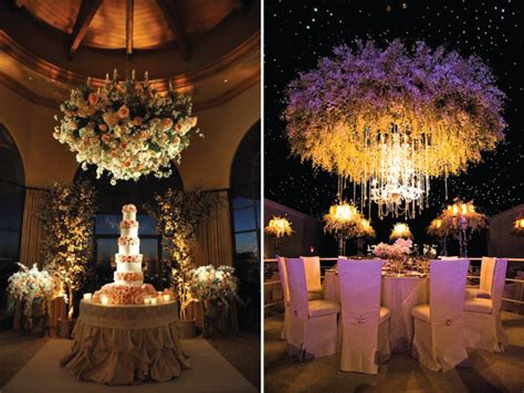 hanging floral centerpieces suspended wedding centerpieces floral chandeliers belle the magazine