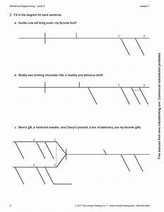 Sentence Diagramming Level 2