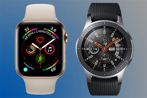 As confusing as it might seem, the galaxy watch active 4 will launch with the name galaxy watch 4, while the galaxy watch 4, the premium smartwatch, will launch as the galaxy watch 4 classic, so keep that in mind. Apple Watch 4 vs Samsung Galaxy Watch | Trusted Reviews