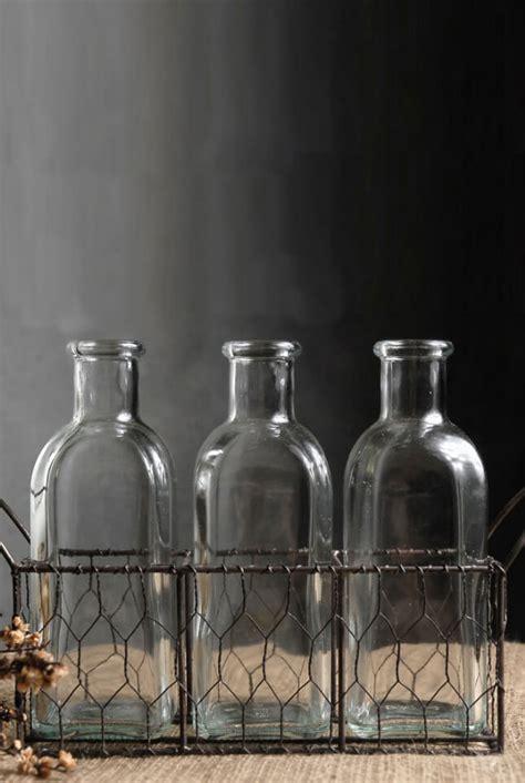 bottle chicken wire basket