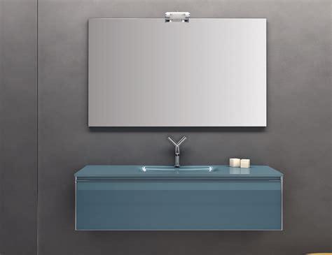 infinity  modular designer bathroom vanity  blue glass