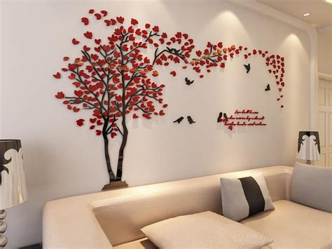 Stunning Living Room Wall Stickers by 3d Tree Wall Murals For Living Room