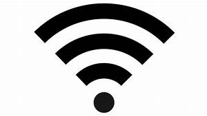 wifi symbol logo, a sign for wireless internet loop Black Motion Background Videoblocks