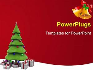 PowerPoint Template: the Christmas tree with reddish ...